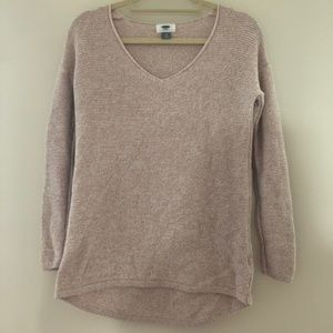 Old Navy Pink LS Sweater XS I8
